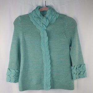 MOTH Anthropologie Wool Mint Cardigan Sweater